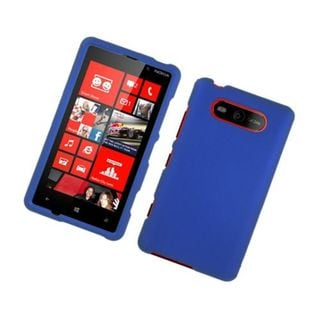 Insten Blue Hard Snap-on Rubberized Matte Case Cover For Nokia Lumia 820