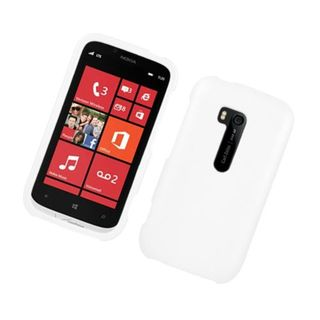 Insten White Hard Snap-on Rubberized Matte Case Cover For Nokia Lumia 822