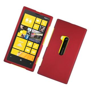 Insten Red Hard Snap-on Rubberized Matte Case Cover For Nokia Lumia 920