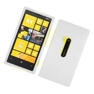 Insten White Hard Snap-on Rubberized Matte Case Cover For Nokia Lumia 920