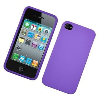 Insten Purple Hard Snap-on Rubberized Matte Case Cover For Apple iPhone 4/4S