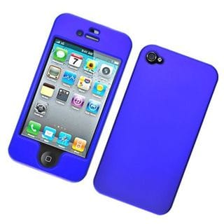 Insten Blue Hard Snap-on Rubberized Matte Case Cover For Apple iPhone 4/4S