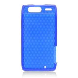 Insten Blue TPU Rubber Candy Skin Case Cover For Motorola Droid Razr XT912