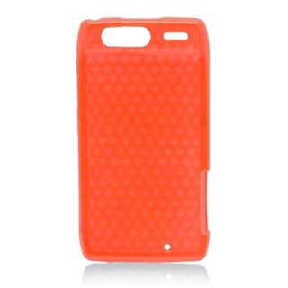 Insten Red TPU Rubber Candy Skin Case Cover For Motorola Droid Razr XT912