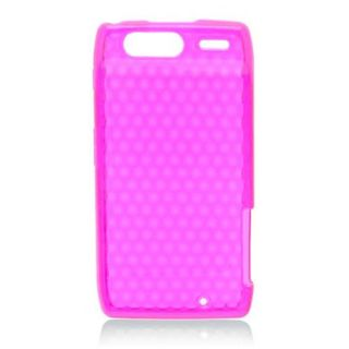 Insten Pink TPU Rubber Candy Skin Case Cover For Motorola Droid Razr XT912