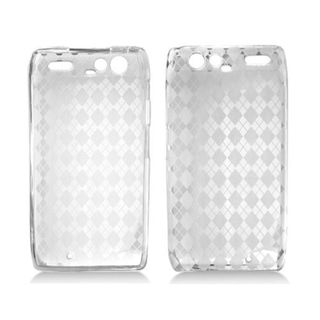 Insten Clear TPU Rubber Candy Skin Case Cover For Motorola Droid Razr XT912