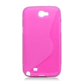 Insten Pink S Shape TPU Rubber Candy Skin Case Cover For Samsung Galaxy Note II