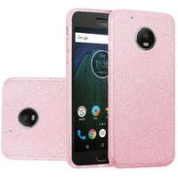 Insten Pink Hard Snap-on Glitter Case Cover For Motorola Moto G5 Plus