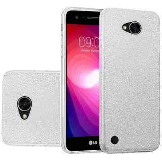 Insten Silver Hard Snap-on Glitter Case Cover For LG X Power 2
