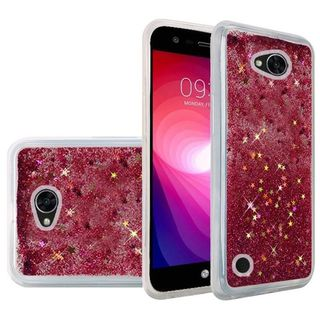 Insten Hot Pink Quicksand Hard Snap-on Glitter Case Cover For LG X Power 2