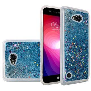 Insten Blue Quicksand Hard Snap-on Glitter Case Cover For LG X Power 2
