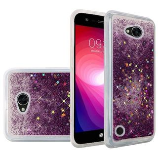 Insten Purple Quicksand Hard Snap-on Glitter Case Cover For LG X Power 2