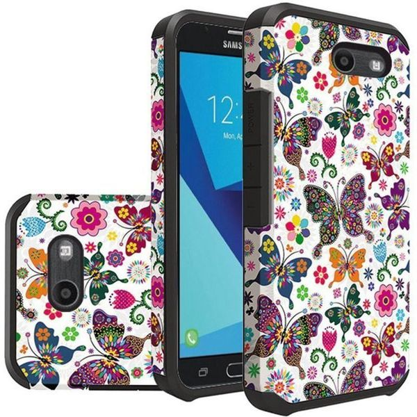 Shop Insten Colorful Butterfly Flower Hard PC/ Silicone Case