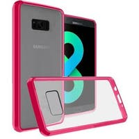 Insten Clear/Hot Pink Hard Snap-on Crystal Case Cover For Samsung Galaxy S8 Plus S8+