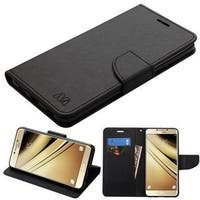Insten Black Leather Case Cover with Stand/Wallet Flap Pouch For Samsung Galaxy C7 Pro