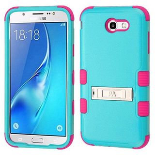 Insten Teal/Hot Pink Tuff Hard Snap-on Dual Layer Hybrid Case Cover For Samsung Galaxy J7 (2017)/J7 Perx/J7 Sky Pro/J7 V