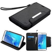 Insten Black Leather Case Cover with Stand/Wallet Flap Pouch For Samsung Galaxy J7 (2017)/J7 Perx/J7 Sky Pro/J7 V