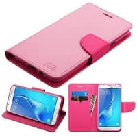 Insten Pink Leather Case Cover with Stand/Wallet Flap Pouch For Samsung Galaxy J7 (2017)/J7 Perx/J7 Sky Pro/J7 V