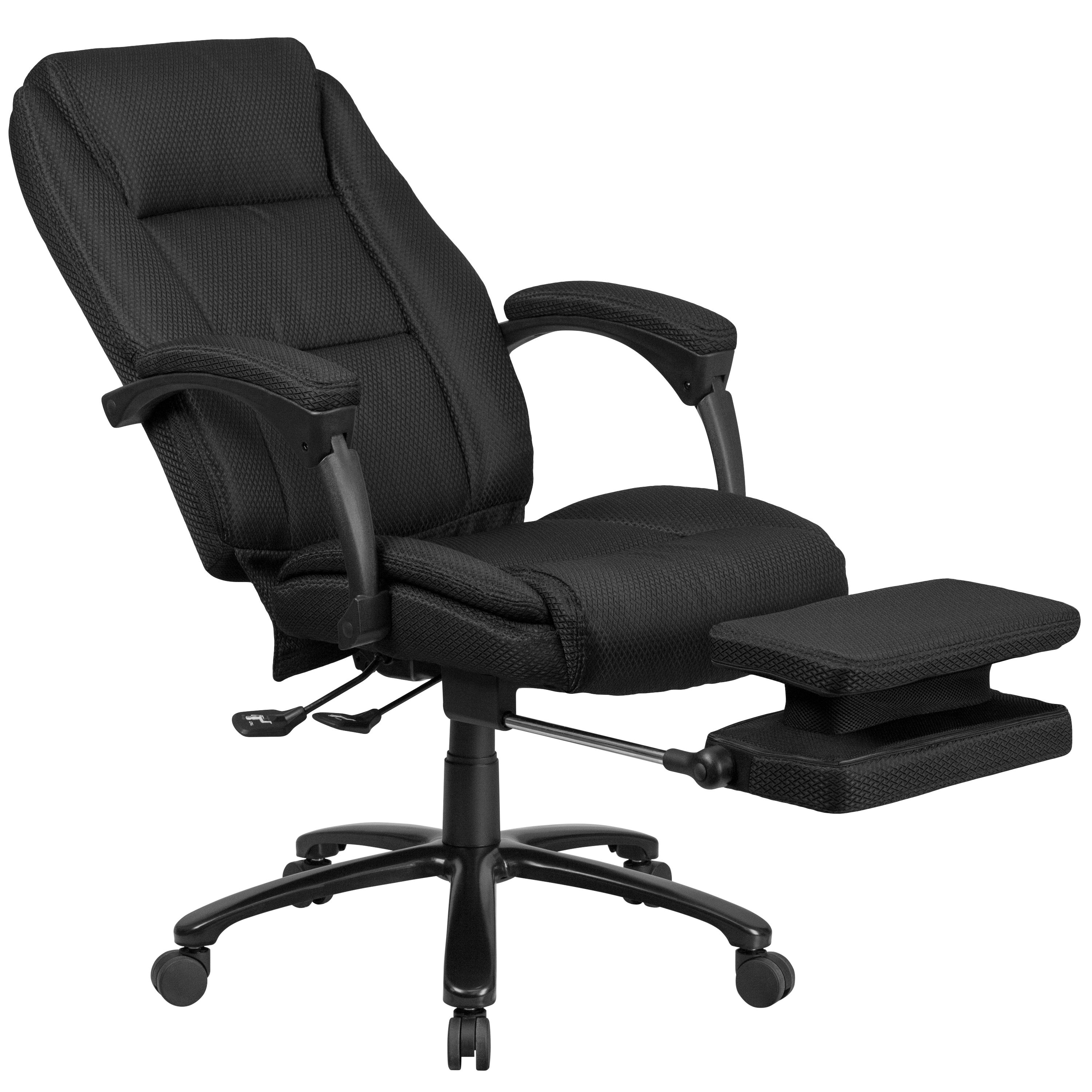 Multifunction Reclining Black Fabric High Back Executive Swivel Office Chair
