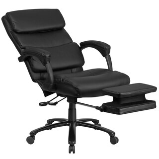 Multifunction High Back Black Leather Executive Reclining Swivel Office Chair with Adjustable Headrest Pillow