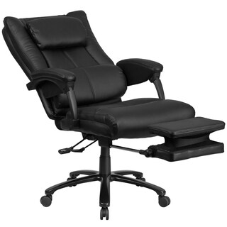 Multifunction High Back Black Leather Executive Reclining Swivel Office Chair