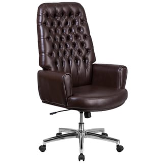 Deluxe Vinyl Executive Office Chair In Black Free