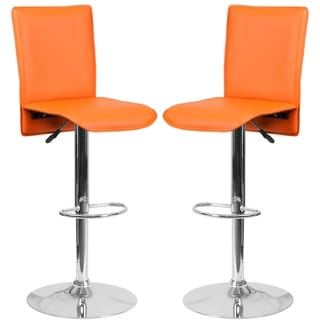 Portugal Orange Adjustable Swivel Barstools