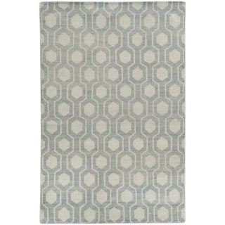Tommy Bahama Maddox Blue/Beige Wool Area Rug (3'6 x 5'6)