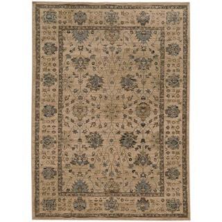 Tommy Bahama Vintage Beige/Blue Wool Area Rug (3'10 x 5'5)