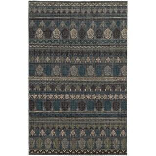 Tommy Bahama Vintage Blue Wool Area Rug (3'10 x 5'5)
