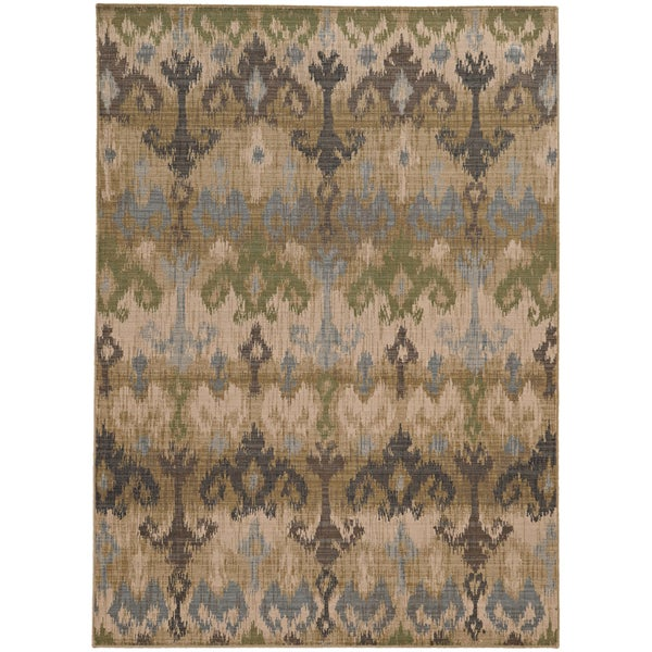 Shop Tommy Bahama Vintage Beige Blue Wool Area Rug 3 10 X