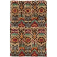 "Tommy Bahama Ansley Beige/Multicolored Jute Abstract Area Rug (3'6 x 5'6) - 3'6"" x 5'6"""