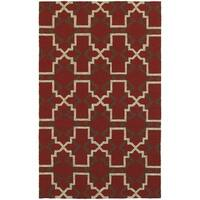 """Tommy Bahama Atrium Red/ Brown Area Rug (3'6x5'6) - 3'6"""" x 5'6"""""""