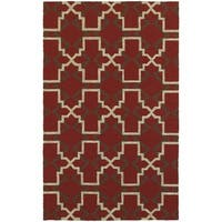 Tommy Bahama Atrium Red/ Brown Area Rug - 3'6x5'6