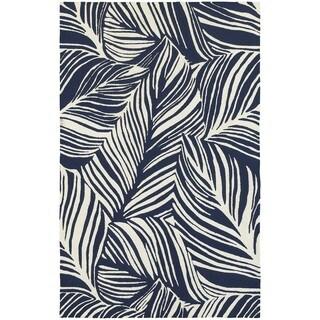 Tommy Bahama Atrium Blue/ Ivory Area Rug (3'6x5'6)