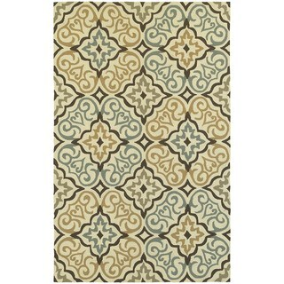 Tommy Bahama Atrium Ivory/ Brown Area Rug - 3'6x5'6