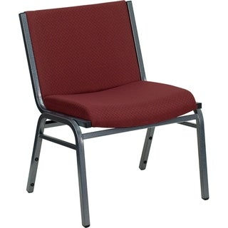 Heavy Duty Burgundy Upholstered Stack Dining Chairs