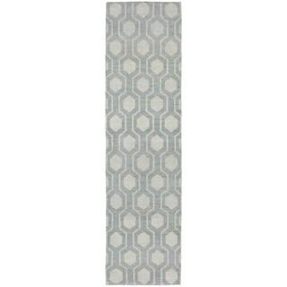 Tommy Bahama Maddox Blue/Beige Wool Area Rug (2'6 x 10')