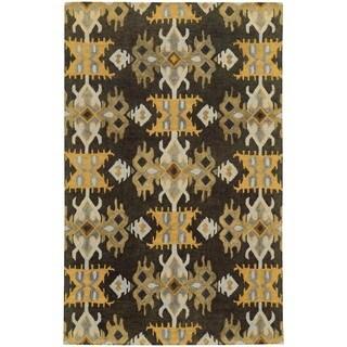 Tommy Bahama Jamison Black/Gold Wool Area Rug (3'6 x 5'6)