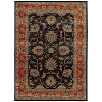 Tommy Bahama Vintage Navy/Red Wool Area Rug - 1'10 x 3'3