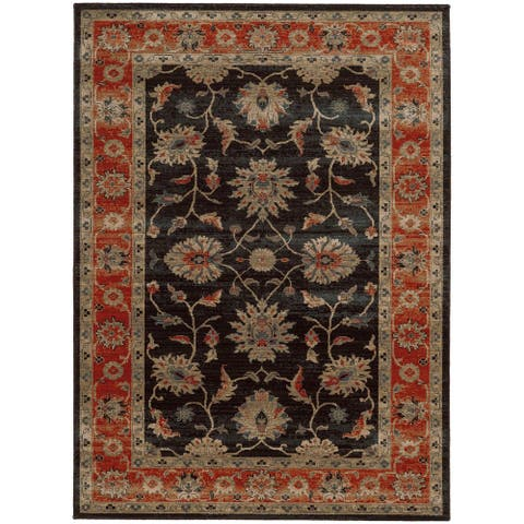 """Tommy Bahama Vintage Persian Inspired Wool Area Rug - 1'10"""" x 3'3"""""""