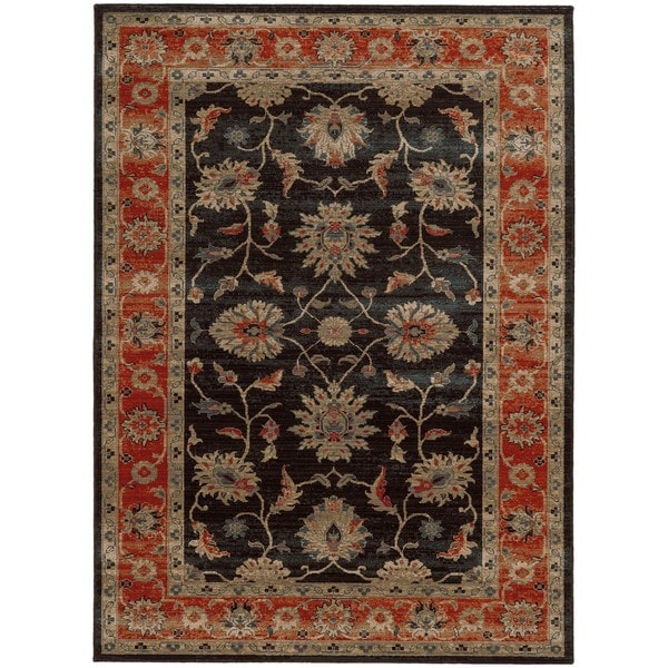 "Tommy Bahama Vintage Navy/Red Wool Area Rug (1'10 x 3'3) - 1'10"" x 3'3"""