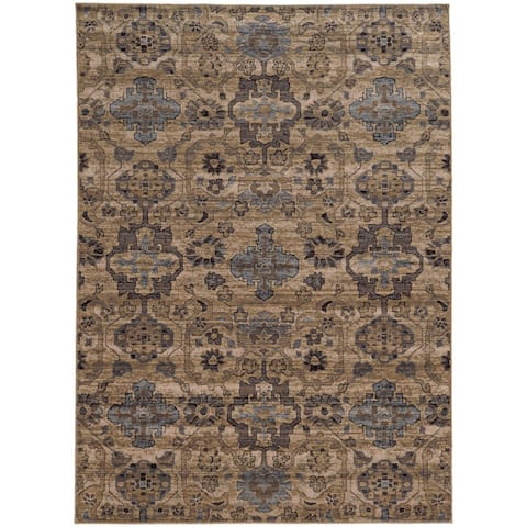 """Tommy Bahama Vintage Distressed Traditional Wool Area Rug - 1'10"""" x 3'3"""""""