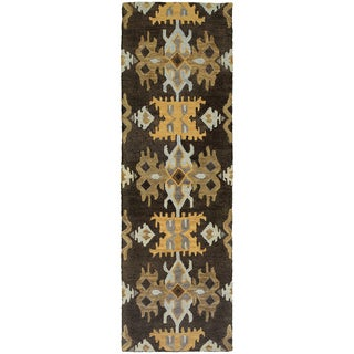 Tommy Bahama Jamison Black/Gold Wool Area Rug (2'6 x 8')