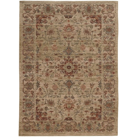 """Tommy Bahama Vintage Faded Traditional Wool Area Rug - 1'10"""" x 3'3"""""""