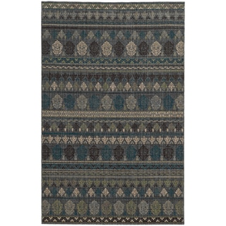 Tommy Bahama Vintage Blue Wool Area Rug (1'10 x 3'3)