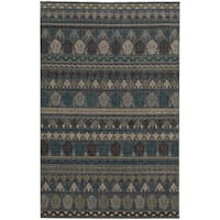 "Tommy Bahama Vintage Blue Wool Area Rug (1'10 x 3'3) - 1'10"" x 3'3"""