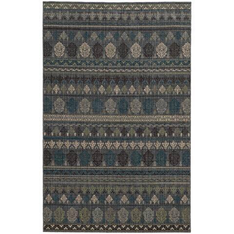 "Tommy Bahama Vintage Tribal Inspired Wool Area Rug - 1'10"" x 3'3"""