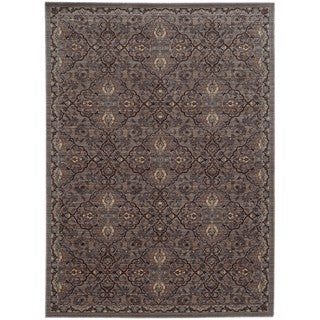 Tommy Bahama Vintage Brown/Blue Wool Area Rug (1'10 x 3'3)