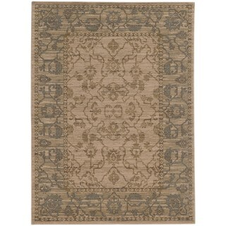 Tommy Bahama Vintage Beige/Blue Wool Area Rug (1'10 x 3'3)